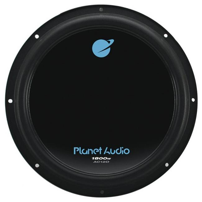Planet Audio AC10D 10 inch Dual 4-Ohm Voice Coil Subwoofer - Black Poly Injection Cone