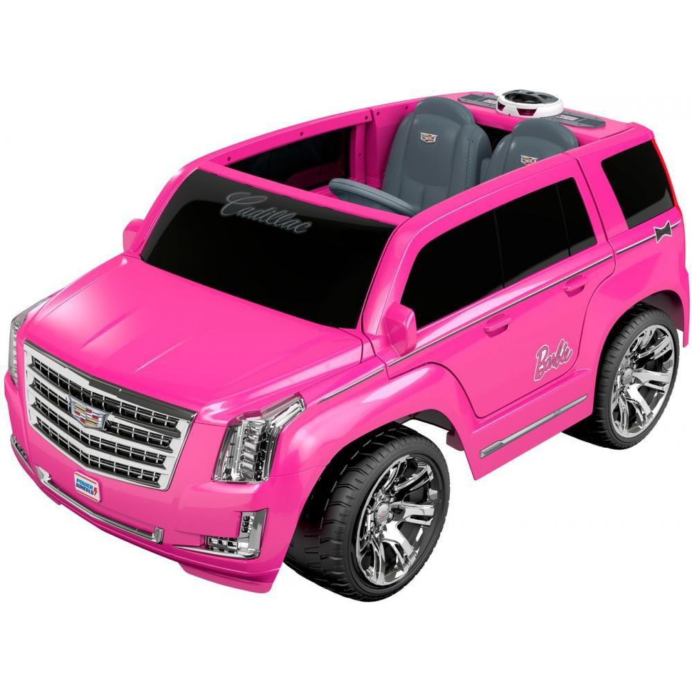 power wheels barbie cadillac escalade ride on vehicle pink walmart com walmart com power wheels barbie cadillac escalade ride on vehicle pink