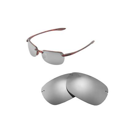 Walleva Titanium Polarized Replacement Lenses for Maui Jim Sandy Beach (Maui Jim Replacement Arm)
