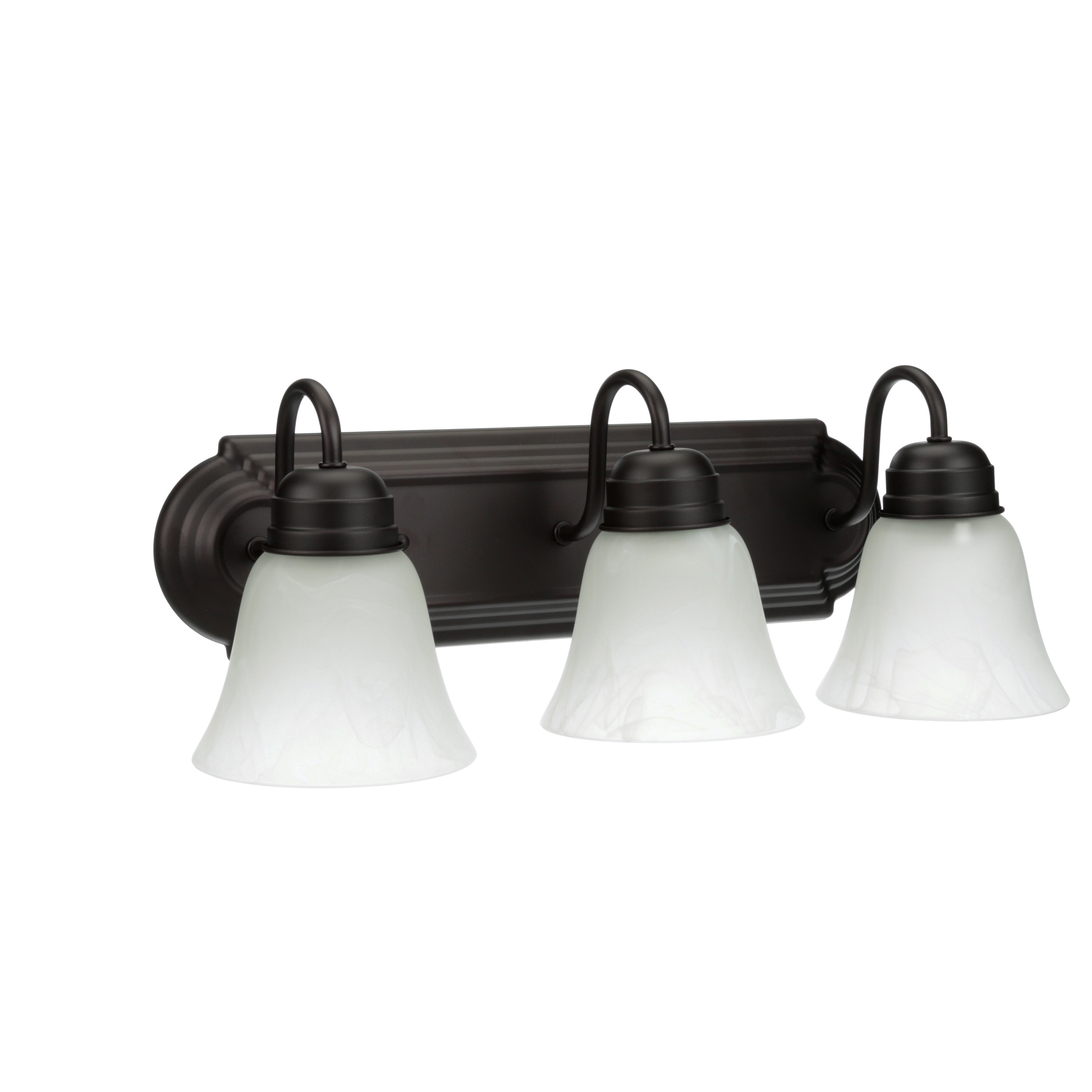 Chapter 3 Light Bathroom Vanity Light With LED Bulbs, Oil Rubbed Bronze