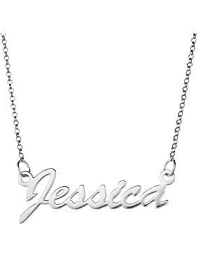 3a0f5e026 Product Image Personalized Premium Sterling Silver Hollywood Script Name  Necklace, 18