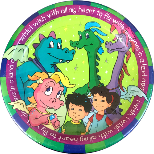 Dragon Tales Vintage 2000 Large Paper Plates (8ct) by
