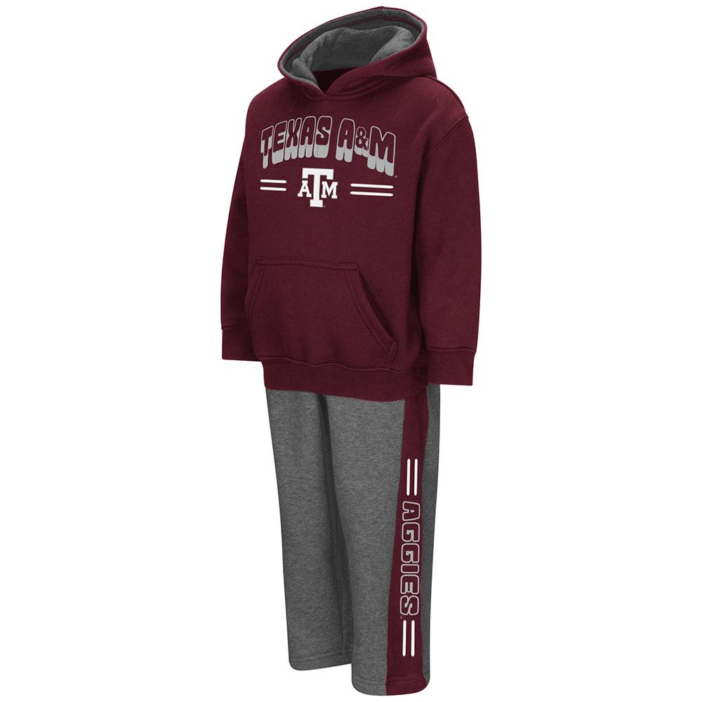 Toddler NCAA Texas A&M Aggies Boys Punter Fleece Hoodie and Sweatpants Set (Team Color)