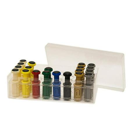 Fabrication Enterprises 10-3782 Plastic Box & Cover for Digi-Flex Multi Finger Buttons, Holds 32 Pieces, 8 Rows of 4