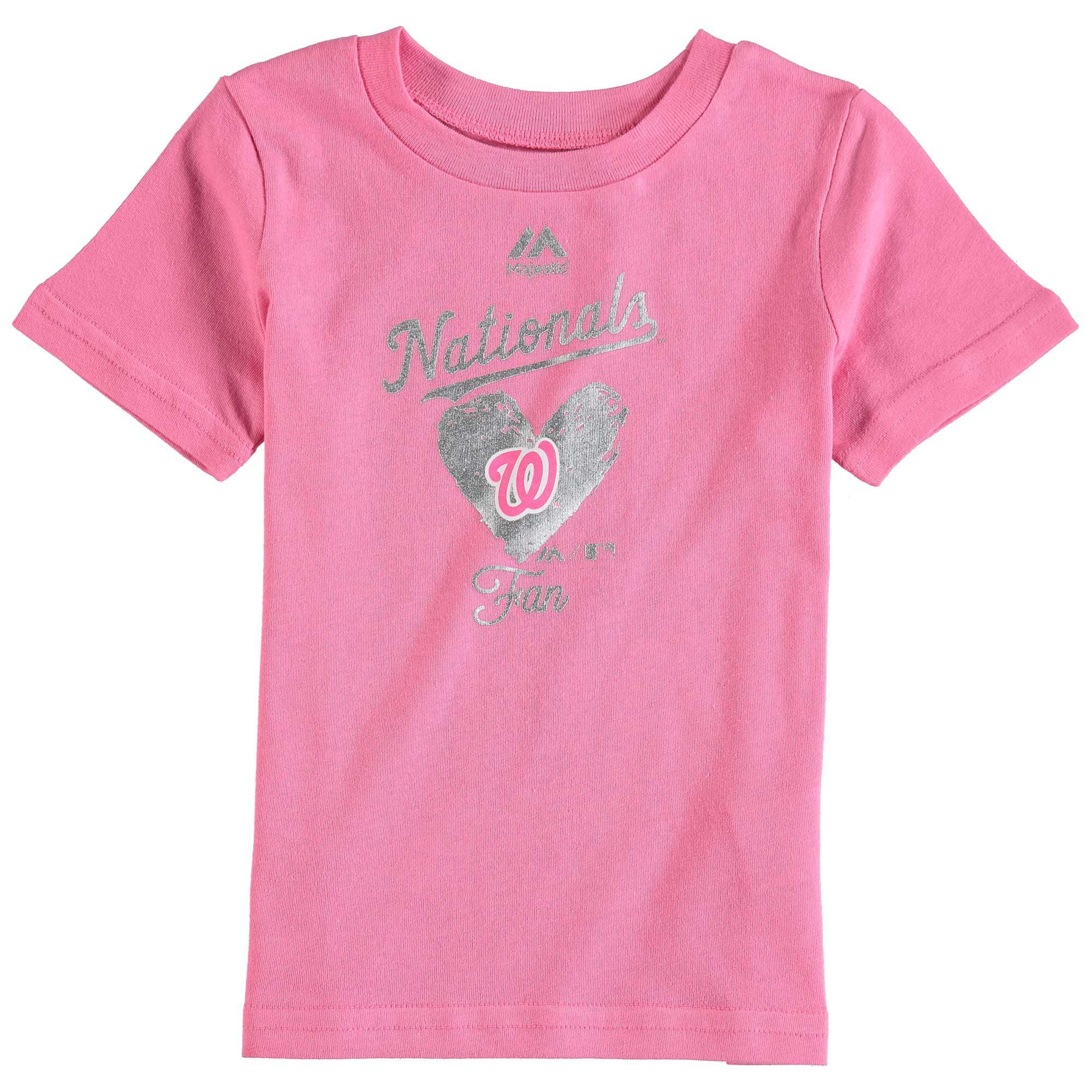Washington Nationals Majestic Girls Infant Autograph T-Shirt - Pink