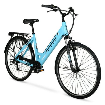 Hyper E-Ride Electric Bike, 36 Volt Battery, 700C Wheels, Blue