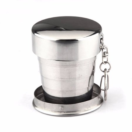 Halloween Mug Shots (75ml Stainless Steel Portable Pocket Folding Outdoor Sports Telescopic Collapsible Shot Water Cup Beer Mug Outdoor Travel Camping)