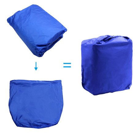 """14-16ft 90"""" 300D Polyester Boat Cover Waterproof Blue V-Hull Protector - image 7 de 9"""