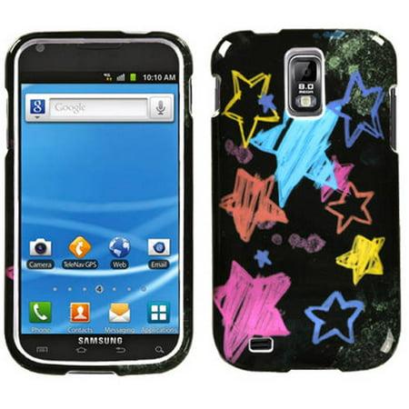 Samsung T989 Galaxy S II MyBat Protector Case, Chalkboard Star Black