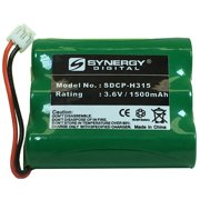 GE 2-28983 Cordless Phone Battery Ni-MH, 3.6 Volt, 1500 mAh - Ultra Hi-Capacity - Replacement for AT&T, Panasonic, VTech 80-5071-00-00, RadioShack 23-298 Rechargeable Batteries
