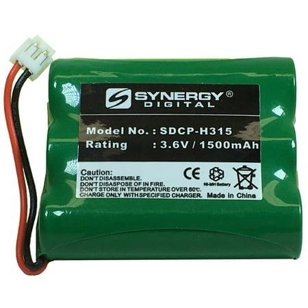 V-tech VT2656 Cordless Phone Battery Ni-MH, 3.6 Volt, 1500 mAh - Ultra Hi-Capacity - Replacement for AT&T, Panasonic, VTech 80-5071-00-00, RadioShack 23-298 Rechargeable (9-6 V Eztec Rechargeable Ni Mh Battery Pack)
