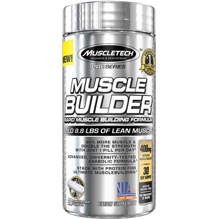 MuscleTech Pro Series Muscle Builder Rapid-Release 400 mg Capsules, 30 Ct