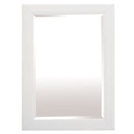 Yosemite Home White Traditional Framed Wall Mirror ()