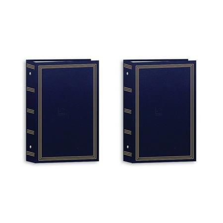 Pioneer Pocket 3-Ring Photo Album (Navy Blue,