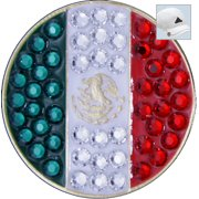 Bella Crystal Golf Ball Marker & Hat Clip - Countries Collection - Mexico