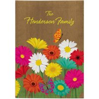 Personalized Spring Flowers Garden Flag, Available With or Without Stake