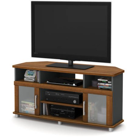 South Shore City Life Corner TV Stand, for TVs up to 50″ Multiple Finishes