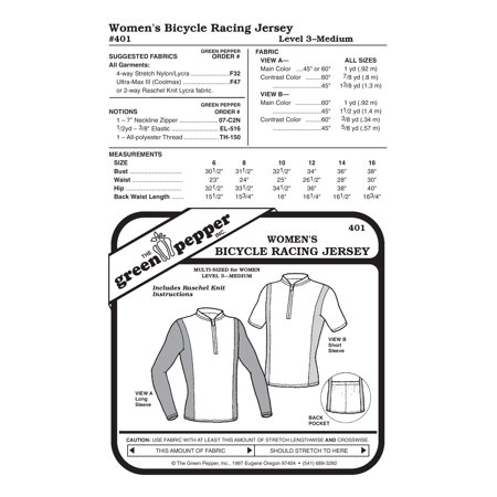 Women Bicycle Racing Jersey Sewing Pattern