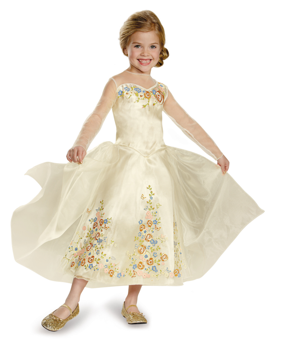 Cinderella Movie Wedding Dress Deluxe Toddler Dress Up / Role Play ...