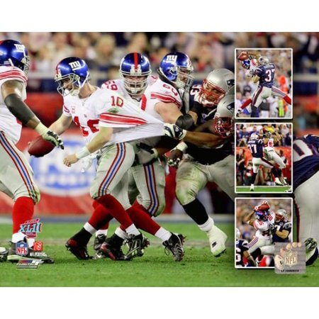 David Tyree and Eli Manning Super Bowl XLII Multi Exposure Photo Print