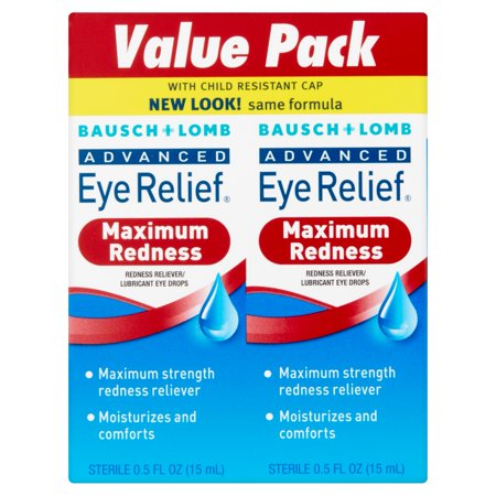 Bausch & Lomb Advanced Eye Relief Redness Eye Drops, 0.50 fl oz, twin