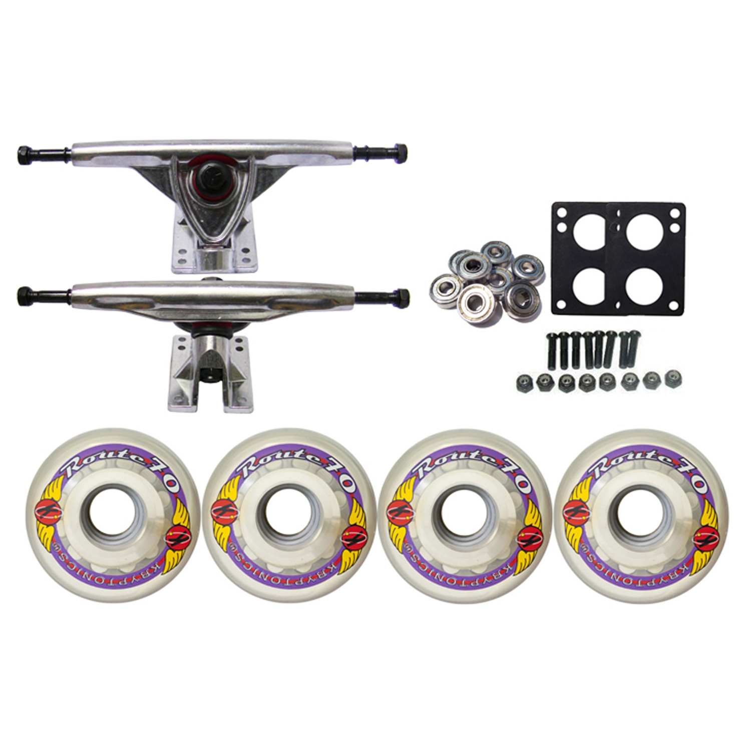 KRYPTONICS ROUTE Truck Wheel Pack 70mm CLEAR 180mm Raw
