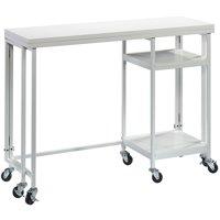 Sauder Craft Pro Series Fold-Out Work Cart, White Finish