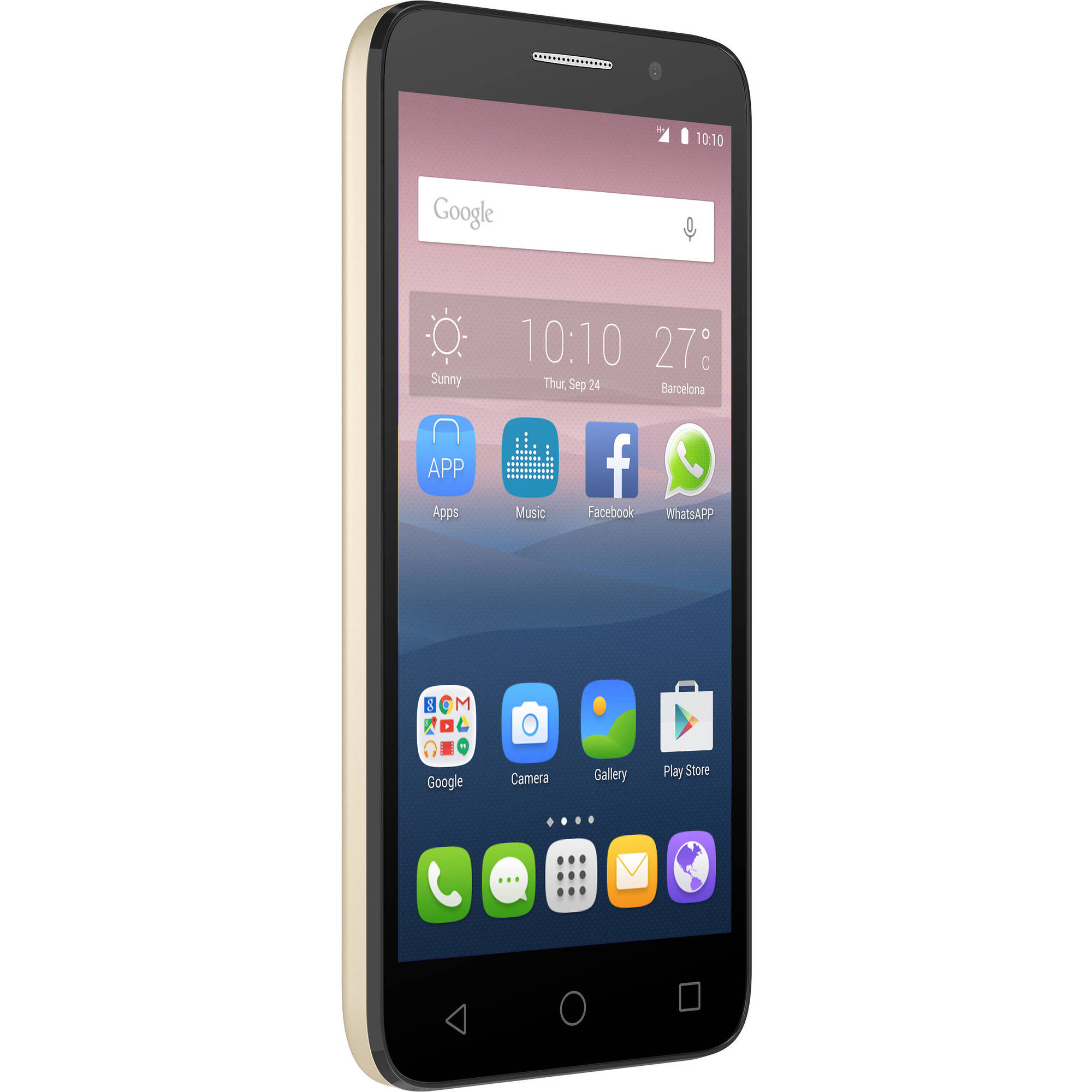Alcatel OneTouch  Pop 3 Smartphone (Unlocked), Gold, Walmart Exclusive