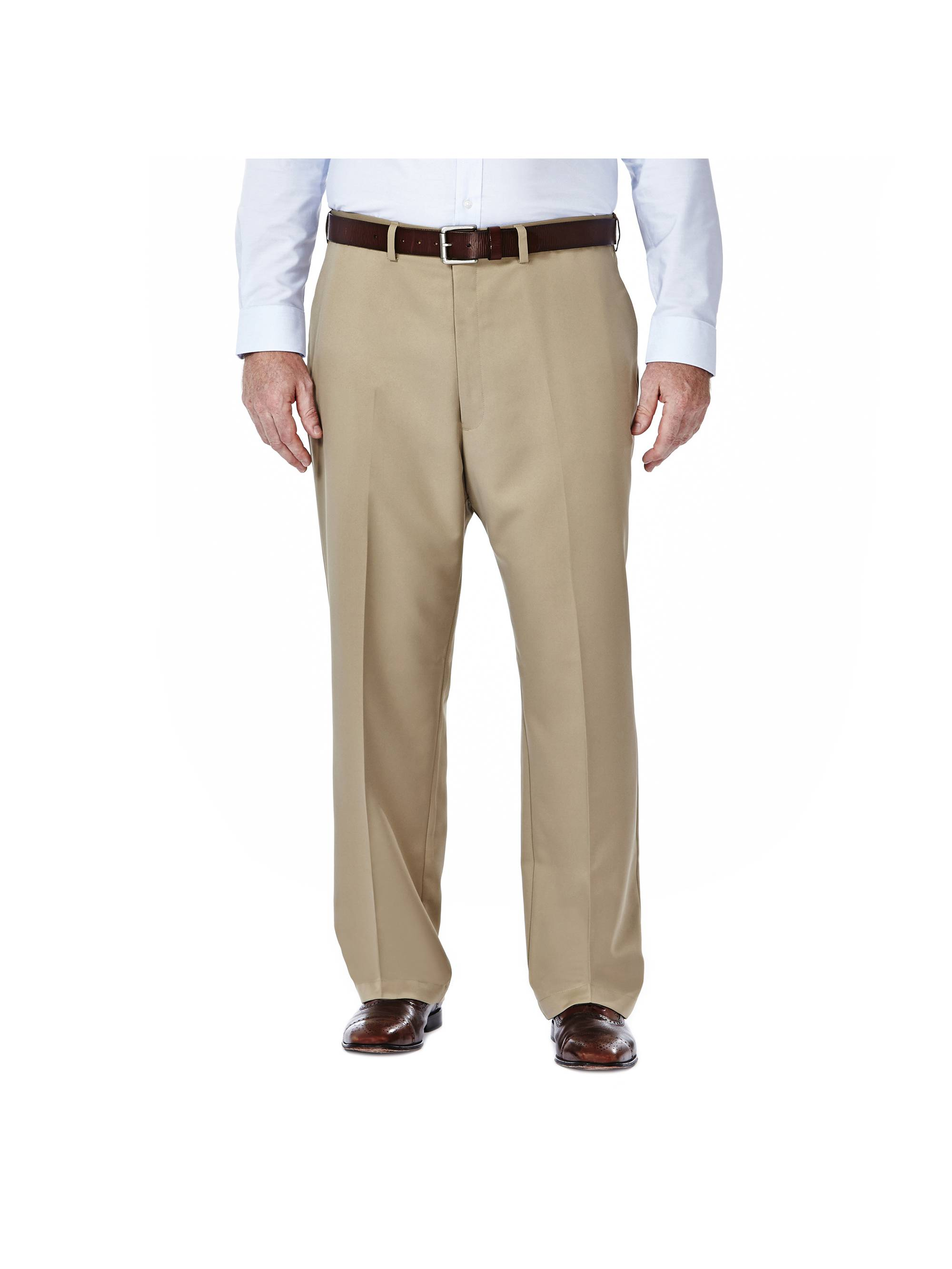 Men's Big & Tall Cool 18® Solid Pleat Front Pant Classic Fit 41714529498