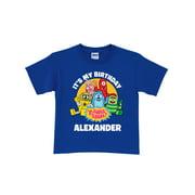Personalized Yo Gabba Gabba It's My Birthday Toddler T-Shirt, Blue