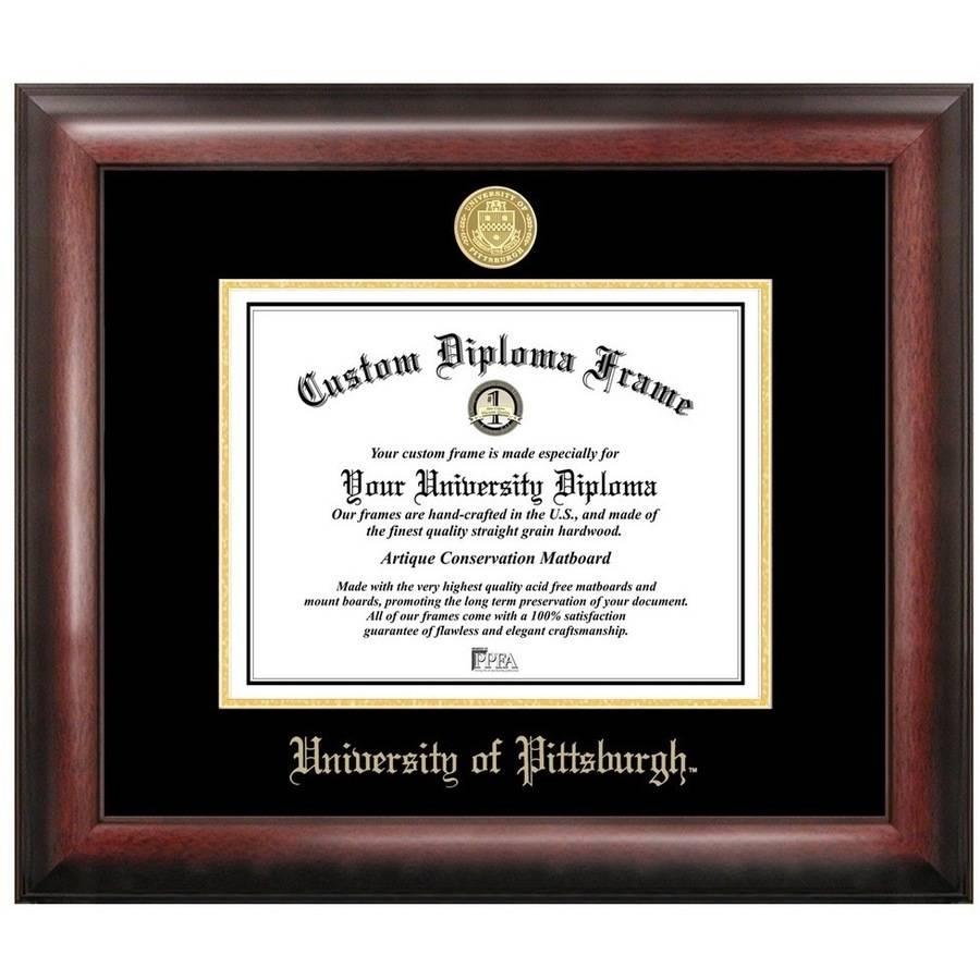 "University of Pittsburgh 8.5"" x 11"" Gold Embossed Diploma Frame"