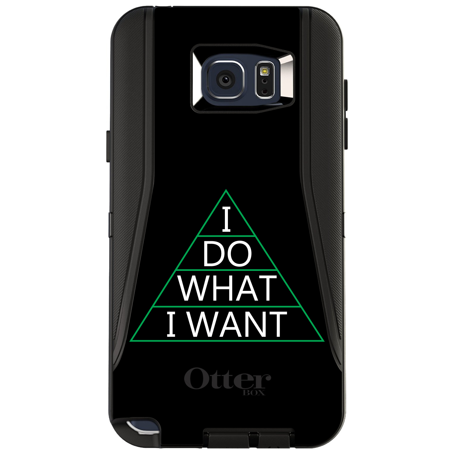 CUSTOM Black OtterBox Defender Series Case for Samsung Galaxy Note 5 - I Do What I Want