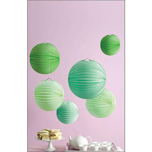 Martha Stewart Celebrate Paper Lanterns, Green