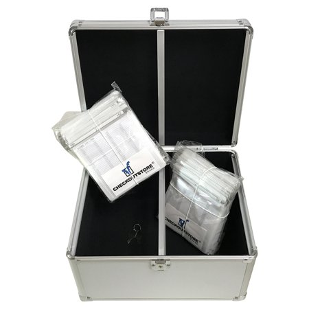 Archival Storage Sleeve - (1) CheckOutStore Aluminum CD/DVD Media Hanging Sleeves Storage Box (Silver / Holds 300 Discs)