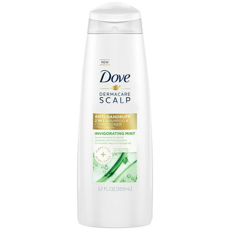 Dove Dermacare Scalp Invigorating Mint Anti-Dandruff Shampoo & Conditioner, 12 oz