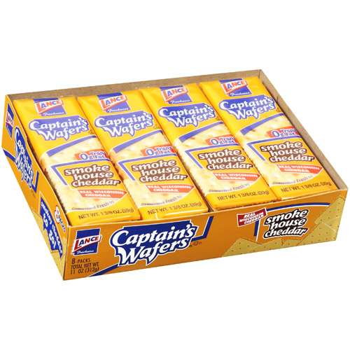 Captain's Wafers Smoke House Cheddar Crackers, 8ct