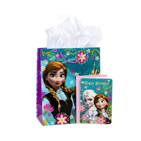 Hallmark, Frozen, Large Birthday Gift Bag with Card and Tissue Paper - Large Paper Bags