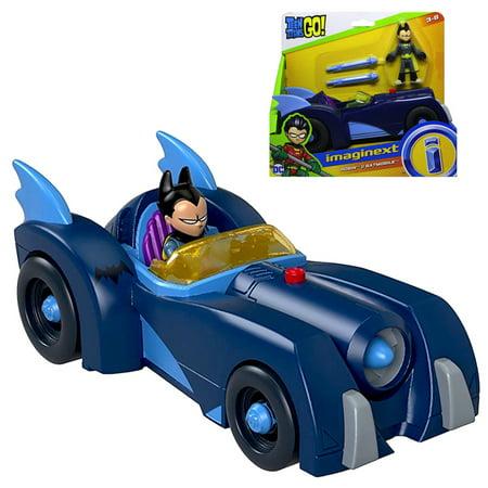 Imaginext Robin & Batmobile Teen Titans Figures - Teen Titan Robin