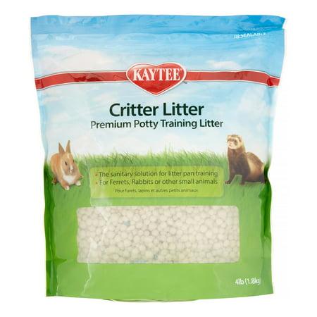Hamster Litter Training - Kaytee Critter Litter Premium Potty Training Pearls, Small Animal Litter, 4-lb