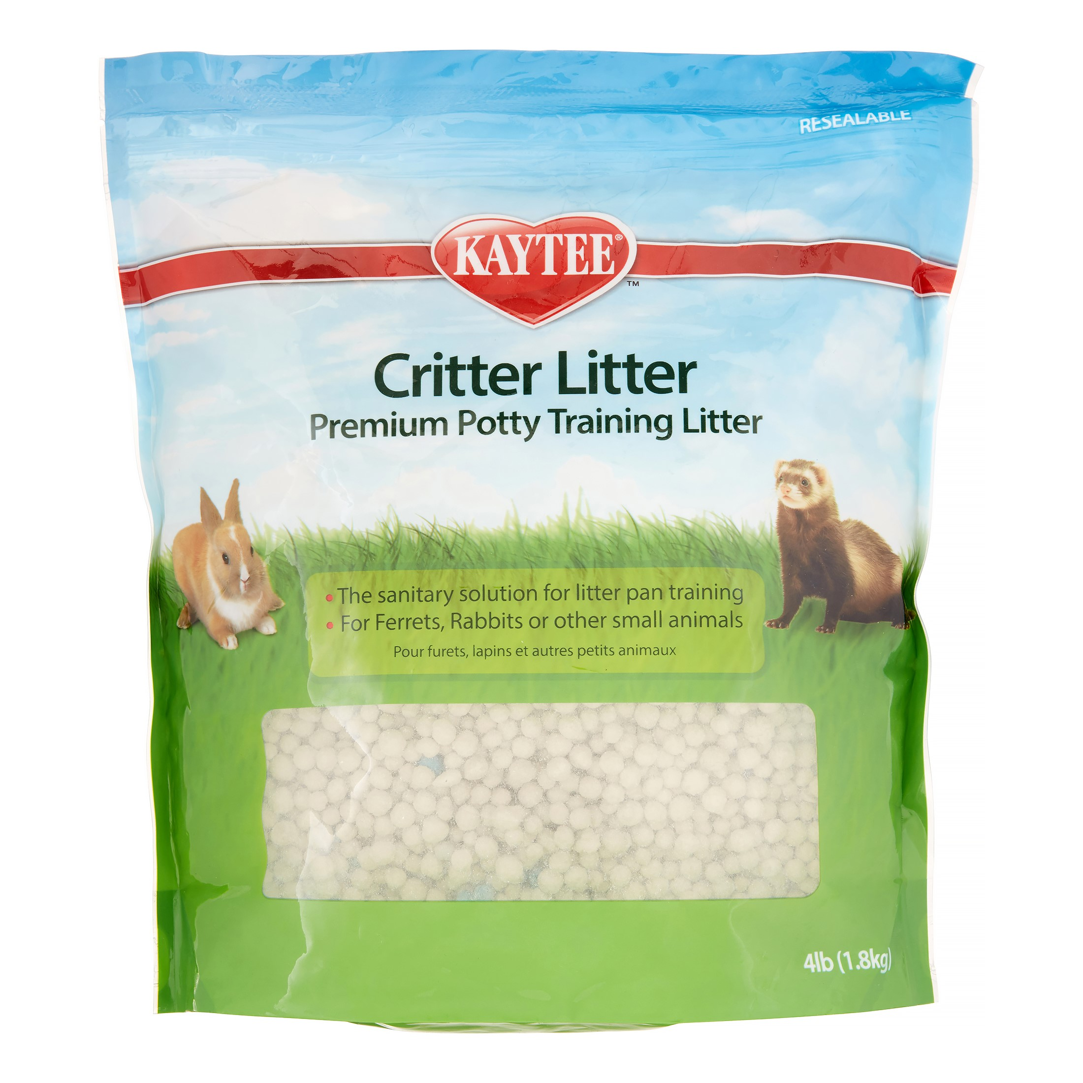 Kaytee Critter Litter Premium Potty Training Pearls, Small Animal Litter, 4-lb