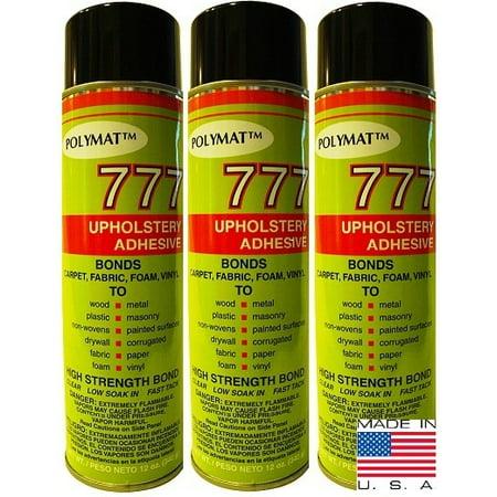 QTY 3 POLYMAT 777 Spray Glue Multipurpose Bond Adhesive for Feather Pr