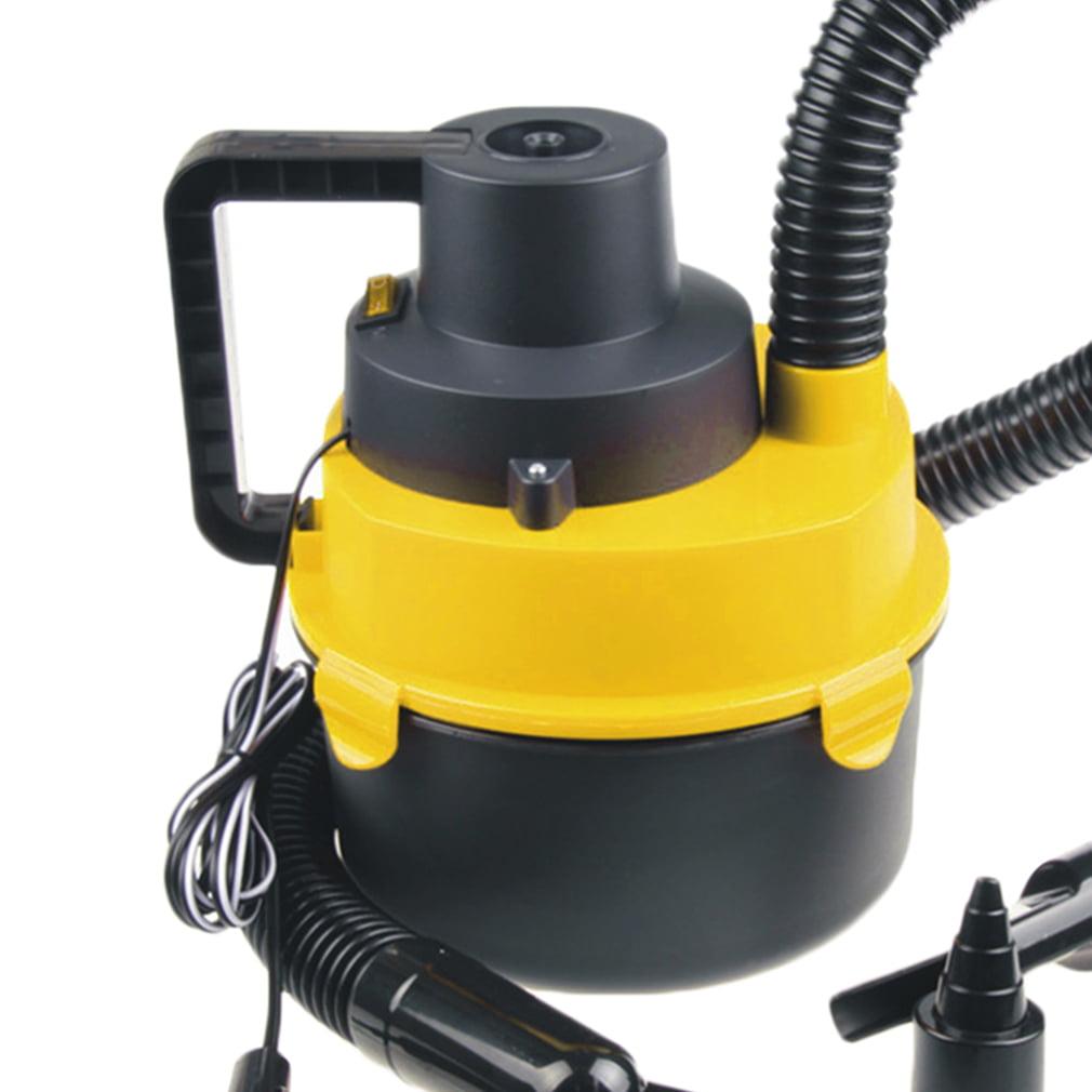 Black&Yellow Portable Powerfull Mini Auto Car Vacuum Cleaner Wet Dry DC 12 Volt by LESHP