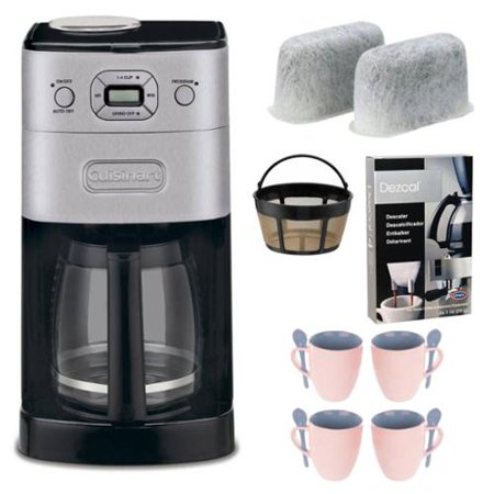 Cuisinart DGB-650BC Grind-and-Brew Thermal 10-Cup Automatic Coffeemaker, Brushed Metal Kit ...