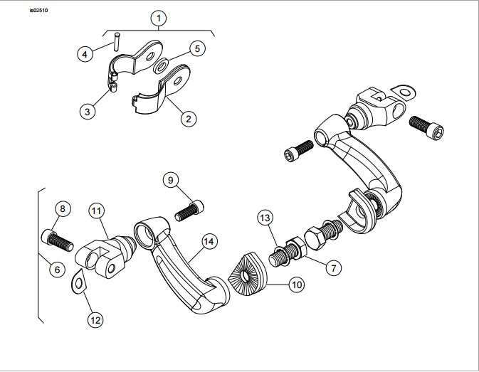 Htt Motor Black Adjustable Peg Mounting Kit Lightning Style Foot Peg