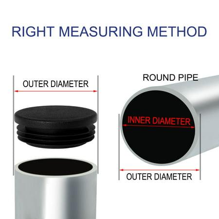 "25pcs 48mm OD Plastic Black Round Tube Insert Pipe Protector, 1.73""-1.81"" Inner Dia - image 5 of 7"