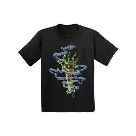 Awkward Styles Halloween T-Shirt for Girls Boys Mummy Hand Toddler Shirt ()
