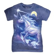 Purple Cotton Unicorn Star Design Novelty Parody Womens T-Shirt