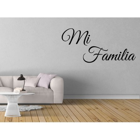 Vinilo decorativo para pared mi familia wall stickers for Vinilo decorativo musical pared