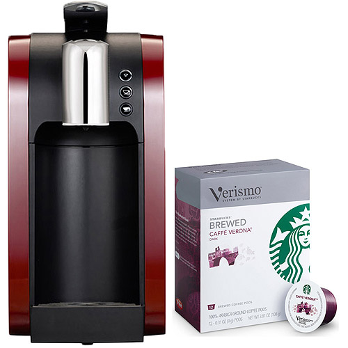 Starbucks Verismo Single Serve Coffee Maker - Burgundy