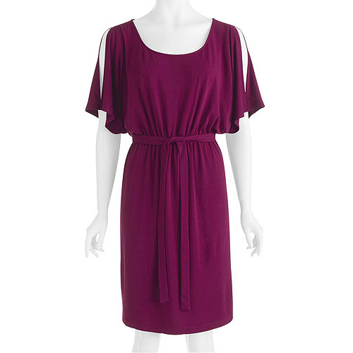 Susie Rose Collection Womens Plus-Size Cold-Shoulder Dress